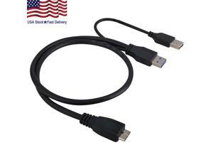 Type A Male to Micro-B Male Blue QualConnectTM Micro USB 3.0 Cable 10 ft
