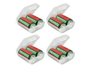 C Battery Storage Case/Box/Organizer/Holder Plastic Holds 2 C batteries 4-Pack