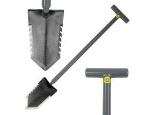 "Lesche T- Handle 31"" Heavy Duty Metal Detector Shovel Double Serrated Blade"