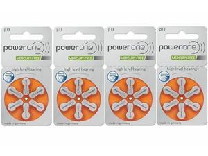 Super Fresh 36 PC Powerone Hearing Aid Batteries Size 13 Power one P13