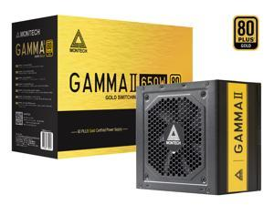 Montech Gamma ll 650W, 80+ Gold Certified PSU, LLC+DC to DC Technology, High Quality Components, 100% Japanese Capacitors, Silent Fan, High Performance, Full Flat Cables, 5 Years Warranty