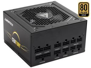 Montech Century 850W 80 Plus Gold Certified Fully Modular Power Supply, Compact ATX Size, FDB Premium Fan, 100% Japanese Capacitors, High-Performance, High Quality Components