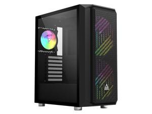Montech Air X ARGB - Black ATX Mid-Tower Gaming Case/ Super High Airflow/ Pull Out Tempered Glass/ Metallic Diamond Mesh Front Panel/ 2 x 200mm ARGB Fans & 1 x 120mm ARGB Fan & Fan Controller