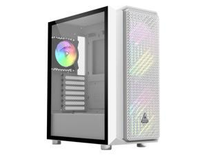 Montech Air X ARGB - White ATX Mid-Tower Gaming Case/ Super High Airflow/ Pull Out Tempered Glass/ Metallic Diamond Mesh Front Panel/200mm ARGB Fans*2 & 120mm ARGB Fan*1 & Fan Controller Pre-Installed