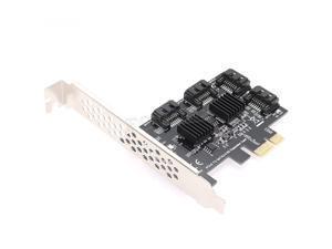 Plugadget PCI-e PCIE to SATA Card PCI-E Adapter PCI Express to SATA 3 Converter 4 Port SATA III 6G Expansion Controller Card Adapter IPFS