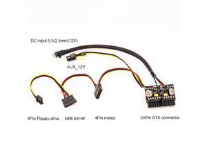 24Pin 12V DC Input Peak 150W Output Realan Mini ITX Pico PSU DC ATX PC Switch DC-DC ATX Power Supply For Computer