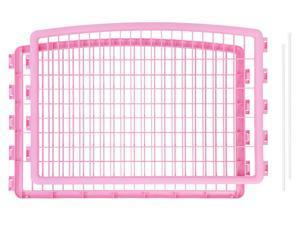 IRIS 24-inch Pet Playpen 2 Panel Add-On, Pink