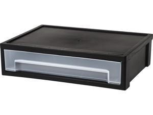 IRIS Large Desktop Stacking Drawer, 6 Pack, Black
