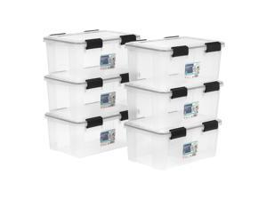 IRIS 19 Quart WEATHERTIGHT® Storage Box, 6 Pack, Clear