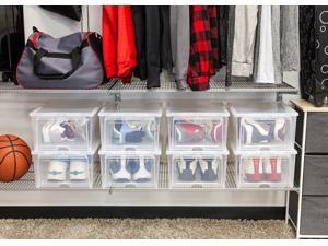 IRIS Easy Access Men's Shoe Box, 2 Pack, Clear