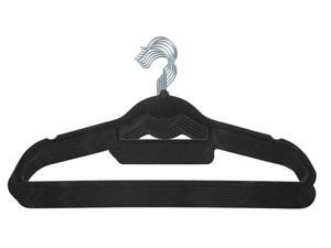 IRIS Non-Slip Clothes Hanger, Black, Set of 10