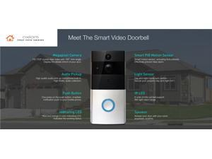 Axiom WiFi smart video Doorbell Camera for home and business with an app (monthly monitoring contract not required)