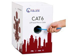 CAT6 Plenum (CMP) 1000ft Bulk Ethernet Cable   100% Pure Solid Bare Copper   550MHz, 23AWG, 4Pair UTP 10GB Internet Cable   Quality Tested & Stable Performance (Blue)