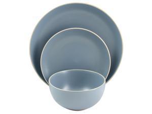 Gibson Home Rockaway 12Piece Dinnerware Set in Matte Blue