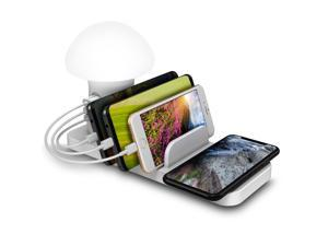 Trexonic 3in1 Desk Organizer with Wireless Charging Station and Reading Light