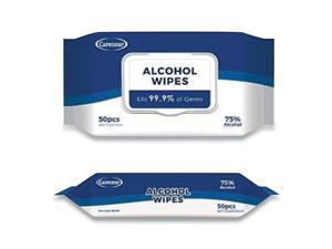 Personal Ethyl Alcohol Wipes, 6 x 8, White, 50/Pack SA05024PK