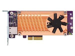 QNAP QM2-2P10G1TA Dual M.2 2280 PCIe SSD & Single-port 10 GbE Expansion Card