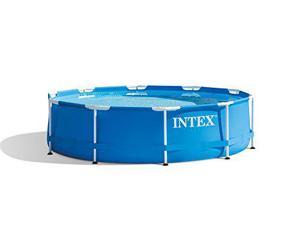 """Intex 28201EH 10' x 30"""" Metal Frame Round Above Ground Swimming Pool with Pump"""