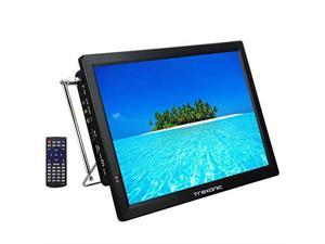 Trexonic Portable Rechargeable 14 LED TV With HDMI SDMMC USB VGA AV InOut And Builtin Digital Tuner
