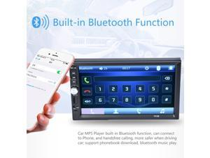 7 Inch Touch Screen 2 Din Car Audio Stereo Bluetooth MP5 Player Support Rear View Camera AUX FM USB