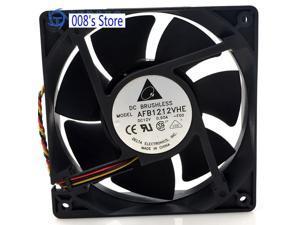 Radiator CPU Cooler Fan For Server PC AFB1212VHE -F00 120*120*38MM 12cm 12V 0.90A -F00 3 Pins Cooling 129CFM 3200RPM