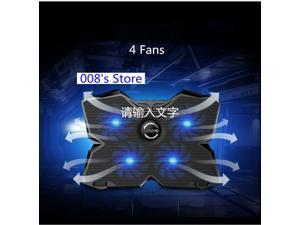 """NEW Radiator Cooler Cooling Fan For Laptop Pad 14"""" 15.6"""" 17 inch with 4 fans 2 USB Port Slide-proof Stand Notebook Cooler"""