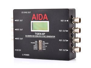 AIDA Imaging TGEN-6P 3G-SDI/HD-SDI Tri-Level Genlock Sync Generator w/2-Yr Warranty