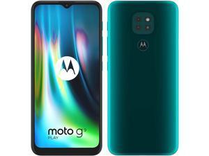 Motorola Moto G9 Play | 4GB + 64GB Dual Sim | New Unlocked International Version Smartphone | Forest Green |
