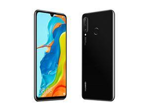 "Huawei P30 Lite 4G LTE Cell Phone - 6.15"" - Midnight Black - 128GB ROM 4GB RAM - CANADIAN MODEL - OPEN"