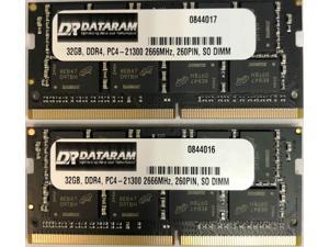 DATARAM 64GB Memory RAM Upgrade (2 x 32GB) DDR4 2666Mhz PC4-21300 CL19 SO DIMM Compatible with The 2018 Apple Mac Mini 8,1 A1993