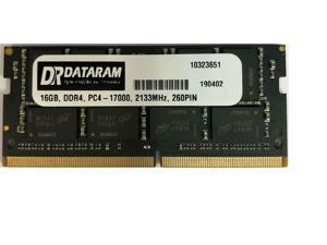 DATARAM 16GB Single DDR4 2133 MT/s (PC4-17000) DR x8 SODIMM 260-Pin Memory RAM