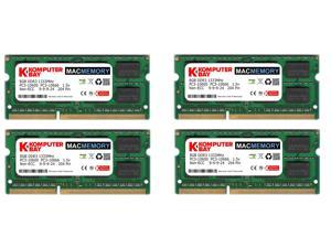 4X 8GB Komputerbay MACMEMORY 32GB PC3-10600 10666 1333MHz SODIMM 204-Pin Laptop Memory 9-9-9-24 for Apple Mac