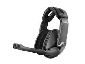 Sennheiser GSP 370 Over-Ear Wireless Gaming Headset, Low-Latency Bluetooth,Noise-Cancelling Mic, Flip-to-Mute, Audio Presets - PC, Mac, Windows, and PS4 Compatible - Black