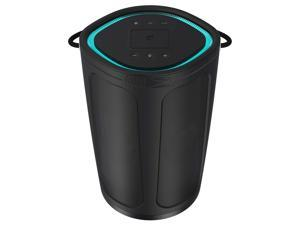 Altec Lansing IMW899-Blk Soundbucket XL Rugged Portable Waterproof Snowproof Wireless Bluetooth Speaker with Built - in QI Wireless Charging, Illuminating Led Lights, Black