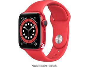 Apple Watch Series 6 44mm Red Aluminum Case with Red Sport Band