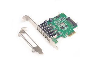 6 Ports USB 2.0 PCIE PCI-e HUB expansion Card PCI-Express card PCI-e 1x USB 2.0 USB2.0 to PCIe express PCI e adapter