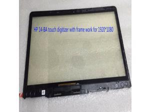 for HP Pavilion X360 14-BA 14 ba touch screen digitizer w/ frame for 1920*1080