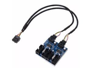 Computer Accessories Adapter Circuit Board Signal Motherboard USB Extension Cable 9Pin Header Stable Connectors 1 To 4 Splitter