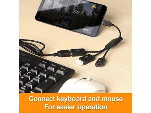 Micro USB to 2 OTG Dual Port HUB Cable Y Splitter Micro USB Adapter Converter for Tablet Android Mouse Keyboard