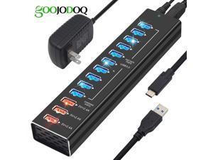 USB Hub Charger 13 Ports USB 3.0 / USB C Hub 12 Ports Multi Splitter 5V 2.4A Fast Charger EU/US Power Adapter for Macbook Pro PC