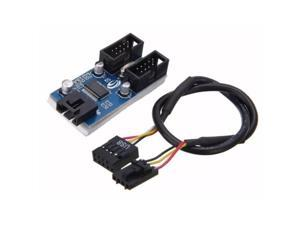 9Pin Card HUB Interface Adapter Desktop Connector Port Multiplier Splitter Accessories 1 To 2 Motherboard USB Extension Cable