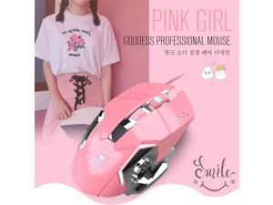 Raton Bright Wired Girl Gaming Mouse Mechanical Gamer Mice 3200DPI for PUBG USB Computer Mouse Gamer Mice trackballs