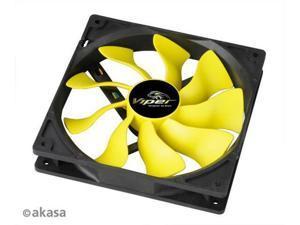 Akasa 4pin PWM Viper S-FLOW 140mm 14cm Case Fan Delivering 30% Higher Airflow Hydro Dynamic Bearing for PC case or heatsink fan