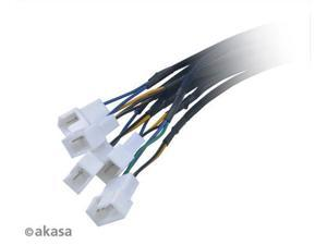 New Akasa FLEXA FP5S 4 pin PWM fans Fan Splitter Cable SATA power for 5 PWM Fans Supports 5 PWM fans from a single motherboard PWM header