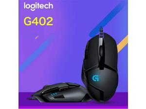 Logitech USB Wired G402 Optical 4000 dpi Hyperion Fury FPS Gaming Mouse with High Speed Fusion Engine 8 Buttons 1 x Wheel gaming mice