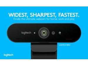 Logitech 4K Ultra HD Webcam 5X Digital Zoom Auto-focus Webcam For Video Conferencing, Recording, and Streaming for window Mac