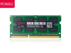 PUSKILL DDR3 1333MHz SODIMM RAM PC3-10600 4G 1.5V CL9 204 Pin Support ECC Unbuffered Laptop Memory Notebook RAM Module for Mac Intel and AMD System