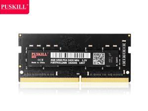 PUSKILL DDR4 2400MHz SODIMM RAM PC4-19200 4G 1.2V CL17 260 Pin Support ECC Unbuffered Laptop Memory Notebook RAM Module for Mac Intel and AMD System