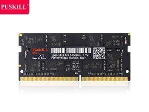PUSKILL DDR4 2400MHz SODIMM RAM PC4-19200 16G 1.2V CL17 260 Pin Support ECC Unbuffered Laptop Memory Notebook RAM Module for Mac Intel and AMD System
