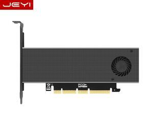 JEYI M.2 PCIE Adapter for PCIE NVMe SSD with Advanced Heat Sink Solution M.2 SSD NVME (M Key) 2230 2242 2260 2280 22110 Size NVME to PCIE 3.0 x4 x8 x16 Full Speed M.2 Add On Card Heat Sink Wafer
